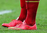 The personalised Nike football boots of Eden Hazard of Belgium