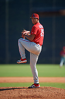 Philadelphia Phillies Francisco Morales (29) during a Minor League Spring Training game against the New York Yankees on March 23, 2019 at the New York Yankees Minor League Complex in Tampa, Florida.  (Mike Janes/Four Seam Images)
