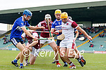Kevin Hannafin, St. Brendans, in action against Jason Diggins  and John Mike Dooley, Causeway, during the County Senior hurling Semi-Final between St. Brendans and Causeway at Austin Stack park on Sunday.