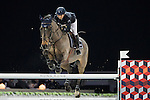 Jane Richard Philips on Dieudonne de Guldenboom competes during the AirbusTrophy at the Longines Masters of Hong Kong on 20 February 2016 at the Asia World Expo in Hong Kong, China. Photo by Victor Fraile / Power Sport Images