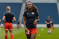 Chicago, IL - Saturday Sept. 24, 2016: Crystal Dunn prior to a regular season National Women's Soccer League (NWSL) match between the Chicago Red Stars and the Washington Spirit at Toyota Park.
