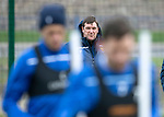 St Johnstone Training…25.10.19<br />Manager Tommy Wright watches training this morning at McDiarmid Park ahead of tomorrows game against Hamilton Accies.<br />Picture by Graeme Hart.<br />Copyright Perthshire Picture Agency<br />Tel: 01738 623350  Mobile: 07990 594431