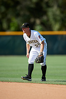 GCL Pirates second baseman Matt Morrow (55) during a game against the GCL Yankees West on August 2, 2018 at Pirate City Complex in Bradenton, Florida.  GCL Pirates defeated GCL Yankees West 6-2.  (Mike Janes/Four Seam Images)
