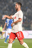 Miralem Pjanic of Juventus celebrates after scoring the goal of 1-2 <br /> Brescia 24-09-2019 Stadio Rigamonti<br /> Football Serie A 2019/2020 Brescia - Juventus  <br /> Photo Matteo Gribaudi / Image Sport / Insidefoto