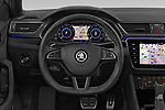 Car pictures of steering wheel view of a 2019 Skoda Superb-Combi Sport-Line 5 Door Wagon Steering Wheel