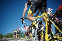 Sylvain Chavanel (FRA/DirectEnergie) cheered up the Lacets du Grand Colombier (Cat1/891m/8.4km/7.6%)<br /> <br /> stage 15: Bourg-en-Bresse to Culoz (160km)<br /> 103rd Tour de France 2016