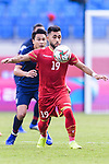 Komail Hasan Alaswad of Bahrain (R) controls the ball during the AFC Asian Cup UAE 2019 Group A match between Bahrain (BHR) and Thailand (THA) at Al Maktoum Stadium on 10 January 2019 in Dubai, United Arab Emirates. Photo by Marcio Rodrigo Machado / Power Sport Images