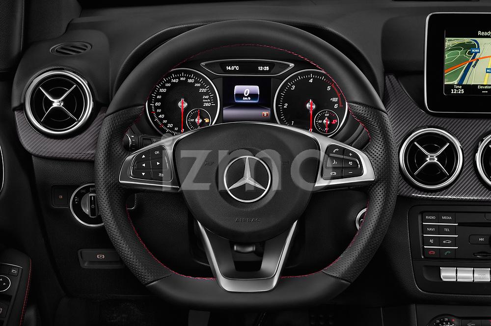 Car pictures of steering wheel view of a 2018 Mercedes Benz B Class Base 5 Door Hatchback