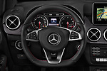 Car pictures of steering wheel view of a 2018 Mercedes Benz B Class Base 5 Door Hatchback