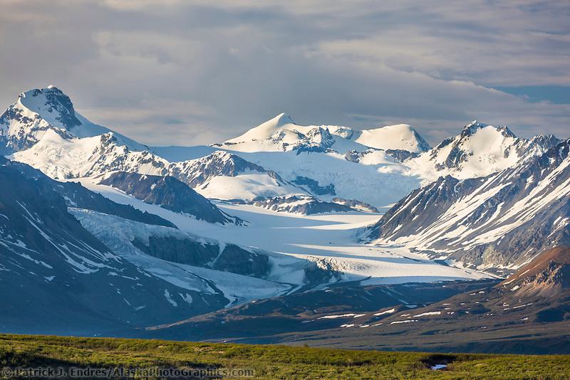 Maclaren glacier in the Alaska Range mountains, Interior, Alaska.