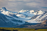 Maclaren glacier in the Alaska Range mountains, Interior, Alaska.