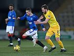 03.03.2021 Livingston v Rangers: Ryan Kent and Nicky Devlin