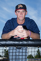 Danville Braves pitcher Patrick Weigel (36) poses for a photo prior to the game against the Burlington Royals at Burlington Athletic Park on August 13, 2015 in Burlington, North Carolina.  The Braves defeated the Royals 6-3. (Brian Westerholt/Four Seam Images)