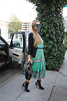 Paris Hilton Spotted At The Ivy In West Hollywood