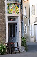 Bar cafe. Sancerre village, Loire, France