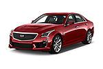 2018 Cadillac CTS V V 4 Door Sedan Angular Front stock photos of front three quarter view