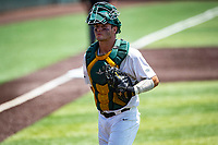 Wright State Raiders catcher Konner Piotto (23) in action against the Duke Blue Devils in NCAA Regional play on Robert M. Lindsay Field at Lindsey Nelson Stadium on June 5, 2021, in Knoxville, Tennessee. (Danny Parker/Four Seam Images)