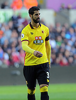 Miguel Britos of Watford during the Premier League match between Swansea City and Watford at The Liberty Stadium on October 22, 2016 in Swansea, Wales, UK.