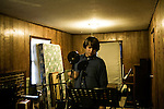 July 23, 2008. Chapel Hill, NC.. Perry and Alex, of the band Prayers and Tears of Arthur Digby Sellers, record one last time before Alex moves to Minnesota and Perry goes to a condo in Raleigh.. Perry.