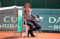 Austria, Kitzbuhel, Juli 15, 2015, Tennis, Davis Cup, Training Dutch team, Jan-Willem de Lange<br /> Photo: Tennisimages/Henk Koster