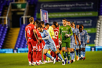 20th November 2020; St Andrews Stadium, Coventry, West Midlands, England; English Football League Championship Football, Coventry City v Birmingham City; Liam Kelly of Coventry City sets off as the players line up before the game
