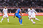 Ali Jaafar Madan of Bahrain (R) is tackled by Pronay Halder of India during the AFC Asian Cup UAE 2019 Group A match between India (IND) and Bahrain (BHR) at Sharjah Stadium on 14 January 2019 in Sharjah, United Arab Emirates. Photo by Marcio Rodrigo Machado / Power Sport Images