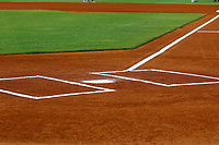 A general view of home plate and first base line prior to the start of the game against the Montgomery Biscuits and the Chattanooga Lookouts on May 26, 2018 at AT&T Field in Chattanooga, Tennessee. (Andy Mitchell/Four Seam Images)