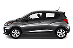 Car driver side profile view of a 2020 Chevrolet Spark LS Select Doors Door Hatchback