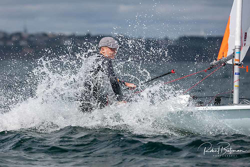 The 99-boat AIB Laser Nationals is underway at Royal Cork Yacht Club