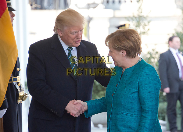 United States President Donald J. Trump welcomes Chancellor Angela Merkel of Germany to the White House in Washington, DC on Friday, March 17, 2017. <br /> CAP/MPI/CNP/RS<br /> ©RS/CNP/MPI/Capital Pictures