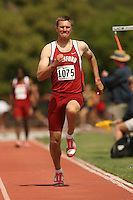 4 April 2007: Josh Hustedt during the Stanford Invitational at Cobb Track and Angell Field in Stanford, CA.