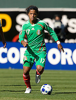 05 July 2009:  Giovani Dos Santos of Mexico in action during the game against Nicaragua at Oakland-Alameda County Coliseum in Oakland, California.    Mexico defeated Nicaragua, 2-0.