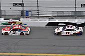 #21: Paul Menard, Wood Brothers Racing, Ford Mustang Motorcraft / Quick Lane Tire & Auto Center, #11: Denny Hamlin, Joe Gibbs Racing, Toyota Camry FedEx Express
