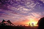 Baja, Sea kayakers, beach campsite, Isla Espiritu Santo, Baja, Mexico, Gulf of California, Sea of Cortez, North America,.