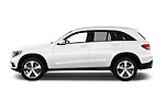 Car Driver side profile view of a 2018 Mercedes Benz GLC-Class GLC300 5 Door SUV Side View