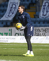 3rd April 2021; Dens Park, Dundee, Scotland; Scottish FA Cup Football, Dundee FC versus St Johnstone; Dundee goalkeeper Adam Legzdins during the warm up before the match