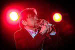 © Joel Goodman - 07973 332324 . 15/05/2014 . Manchester , UK . The Fall , lead by MARK E SMITH , perform at Manchester Cathedral . Photo credit : Joel Goodman