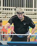 Toronto, ON - Aug 10 2015 -  Ian Kent competes in the Men's Singles Class 8 semifinal in the ATOS Markham Parapan Centre during the Toronto 2015 Parapan American Games  (Photo: Matthew Murnaghan/Canadian Paralympic Committee)