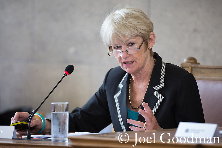 © Joel Goodman - 07973 332324 . 13/07/2016. Manchester , UK . DAME NANCY ROTHWELL . Proceedings at a Manchester City Council meeting , at the Town Hall in Manchester . Photo credit : Joel Goodman