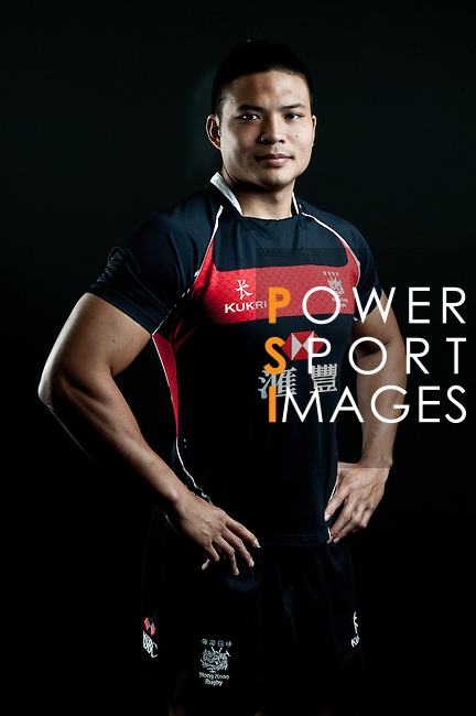 Kwok Ka Chun poses during the Hong Kong 7's Squads Portraits on 5 March 2012 at the King's Park Sport Ground in Hong Kong. Photo by Andy Jones / The Power of Sport Images for HKRFU