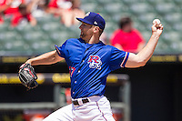 Round Rock Express pitcher Ryan Feierabend #37 delivers a pitch to the plate during the Pacific Coast League baseball game against the New Orleans Zephyrs on May 5, 2014 at the Dell Diamond in Round Rock, Texas. The Zephyrs defeated the Express 13-4. (Andrew Woolley/Four Seam Images)