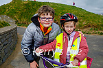 Enjoying a cycle in Ballybunion on Saturday, l to r: Colm and Holly Moloney.