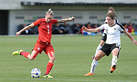 20180302 - LARNACA , CYPRUS : Austrian Nina Burger (r) pictured defending on Czech Nikola Sedlackova (left) during a women's soccer game between Austria and Czech Republic , on friday 2 March 2018 at the AEK Arena in Larnaca , Cyprus . This is the second game in group B for Austria and Czech Republic during the Cyprus Womens Cup , a prestigious women soccer tournament as a preparation on the World Cup 2019 qualification duels. PHOTO SPORTPIX.BE | DAVID CATRY