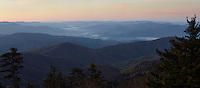 Sunrise on Clingmans Dome (6,643 feet) in the Great Smoky Mountains National Park in Tennessee.