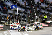 #18: Kyle Busch, Joe Gibbs Racing, Toyota Camry Skittles Zombie takes the checkered flag