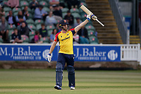 Jimmy Neesham of Essex calls for a new bat during Somerset vs Essex Eagles, Vitality Blast T20 Cricket at The Cooper Associates County Ground on 9th June 2021