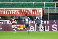 Milano 01-05 2021<br /> Stadio Giuseppe Meazza<br /> Serie A  Tim 2020/21<br /> Milan - Benevento<br /> Nella foto:  Hakan Calhanoglu goal 1 0                                    <br /> Antonio Saia Kines Milano