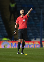 Referee Darren Drysdale<br /> <br /> Photographer David Horton/CameraSport<br /> <br /> The EFL Sky Bet League One - Portsmouth v Fleetwood Town - Tuesday 10th March 2020 - Fratton Park - Portsmouth<br /> <br /> World Copyright © 2020 CameraSport. All rights reserved. 43 Linden Ave. Countesthorpe. Leicester. England. LE8 5PG - Tel: +44 (0) 116 277 4147 - admin@camerasport.com - www.camerasport.com