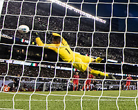 CHICAGO, IL - JULY 7: Zack Steffen #1 during a game between Mexico and USMNT at Soldiers Field on July 7, 2019 in Chicago, Illinois.