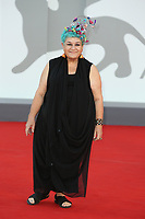 """VENICE, ITALY - SEPTEMBER 08: Serra Yilmaz attends the red carpet of the movie """"Freaks Out"""" during the 78th Venice International Film Festival on September 08, 2021 in Venice, Italy. (Photo by Mark Cape/Insidefoto)"""